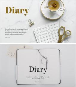 Diary - Theme Slides Free Template_00