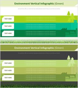 환경 수직 Infographic 다이어그램 (녹색)_00