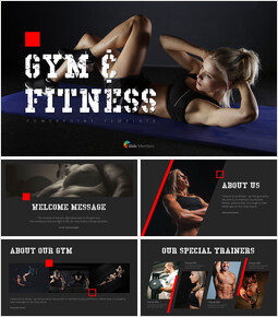 Gym and Fitness PowerPoint Templates for Presentation_00