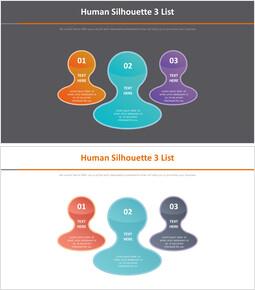 사람 실루엣 3 목록 다이어그램_2 slides