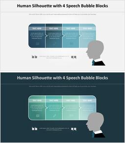 4 개의 버블 블록 사람 인포그래픽 다이어그램_00