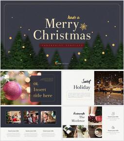 메리 크리스마스 프레젠테이션용 PowerPoint 템플릿_00