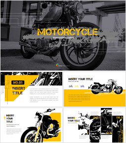 Motorcycle PowerPoint Templates Design_40 slides