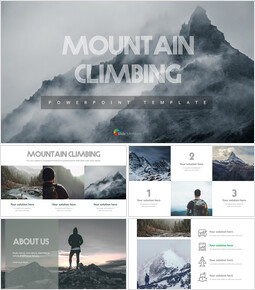 Mountain climbing PPT Templates_00