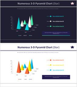 Numerous 3-D Pyramid Chart (Star)_4 slides