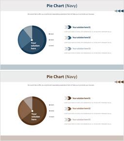 프레젠테이션 - 파이 차트 (네이비) 무료 차트_00
