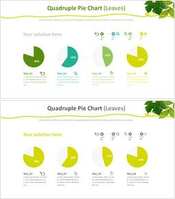 Quadruple Pie Chart (Leaves)_00