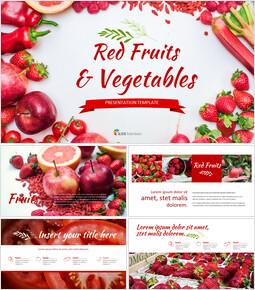 레드 과일과 야채 구글슬라이드 템플릿_00