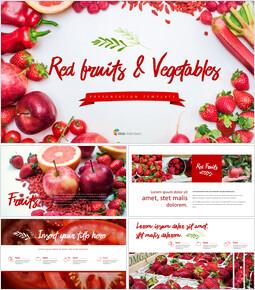 레드 과일과 야채 테마 PPT 템플릿_00
