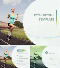 달리기 - 무료 PowerPoint 템플릿_00