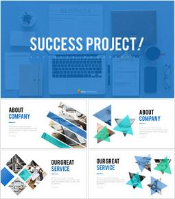 성공 프로젝트 PowerPoint 템플릿 디자인_00