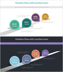 Timeline Flow with Location Icons Diagram_00