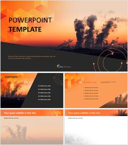 대기 오염 - 무료 PowerPoint 템플릿_00