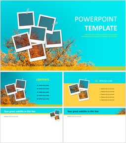 Autumn Photo Exhibition - Free PPT Template_6 slides