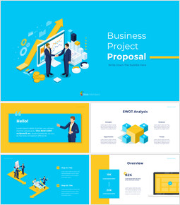 Business Project Proposal Simple Templates Design_16 slides