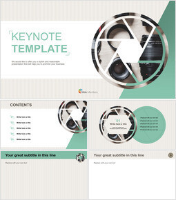 Camera Parts - Free Business Keynote Templates_00