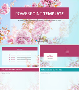 Cherry Blossoms in Spring Days - PPT Free Download_00