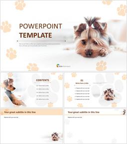 귀여운 강아지 - 파워포인트 이미지 무료 다운로드_00