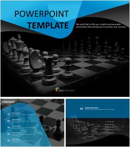 어두운 분위기의 체스 판 - 파워포인트 템플릿 무료_00