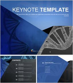 DNA 테마 - 무료 키노트 템플릿_00