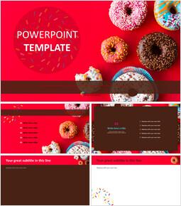 다양한 색상의 도넛 - 무료 파워포인트 템플릿_00