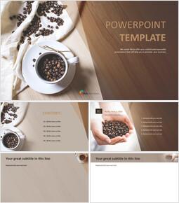 향기로운 커피 콩 - 파워포인트 이미지 무료 다운로드_00