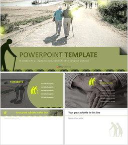 Free Business PowerPoint Templates - An Old man_6 slides