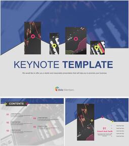무료 Keynote 템플릿 - 금융 거래 차트_00