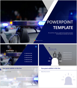 Free PowerPoint - Police Car_6 slides