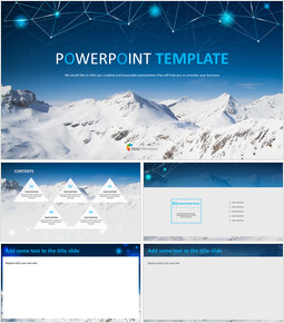 Free PowerPoint - The Top of the Snowy Mountain_00