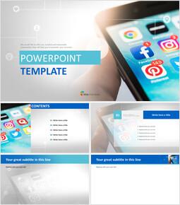 무료 파워포인트 디자인 - 스마트 폰 앱_00