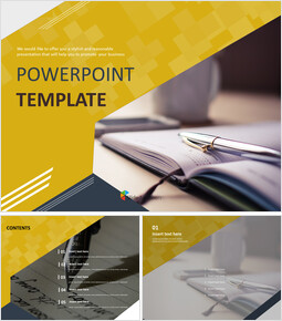 Free Powerpoint Template - Pen and Diary_00