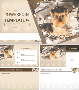 Free Powerpoint Template - Yorkshire Terrier_6 slides