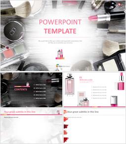 무료 PowerPoint 템플릿 디자인 - 미용 용품_00