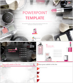 Free Powerpoint Templates Design - Beauty Supplies_00
