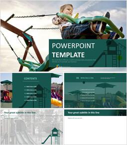 무료 PowerPoint 템플릿 디자인 - 어린이와 놀이터_00