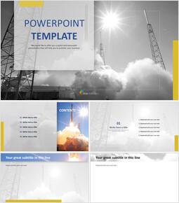 무료 PPT 샘플 - 로켓 발사_00