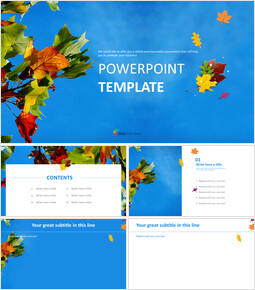 Free PPT Template - Blue Sky and Fallen Leaves_00