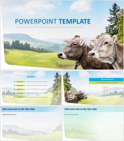 무료 PPT 템플릿 디자인 - 낙농업_00
