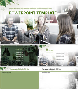 Free Professional PowerPoint Templates - Interview_6 slides