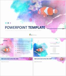 무료 템플릿 디자인 - 흰 동가리 테마_6 slides
