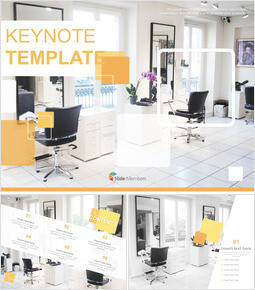 Keynote Download Free - Interior for Hair Salon_00