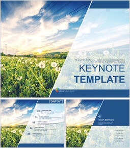 Keynote Template Free Download - Sunset on Leaves_00
