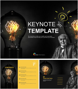Keynote Templates Free Download - Invention and Creativity_6 slides