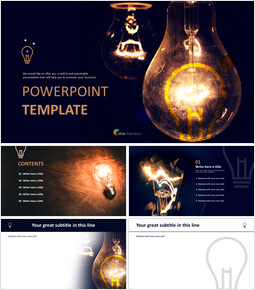 Lightbulb Brightening Dark - Free Powerpoint Template_00