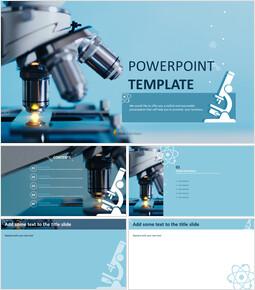 현미경 - 무료 PowerPoint 템플릿 디자인_00