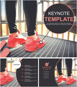 Pink Running Shoes - Free Keynote Template Design_00
