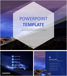 PowerPoint Template Free - Thunder and Lightning_00