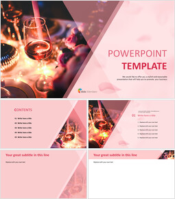 PowerPoint Template Free Download - Party with Wines_00
