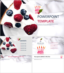 PowerPoint Template Free Download - Whipped Cream Cake_00